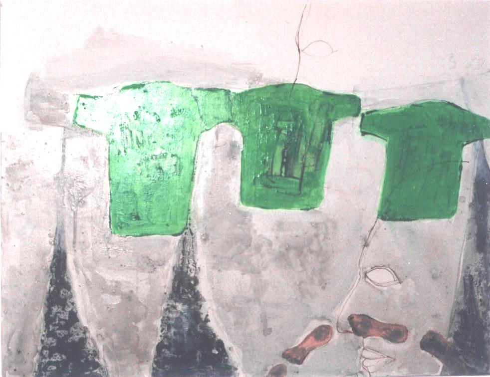 drie tshirts schilderij